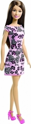 Mattel Barbie Doll Brown Hair - Pink Dress With Flowers & Bowties