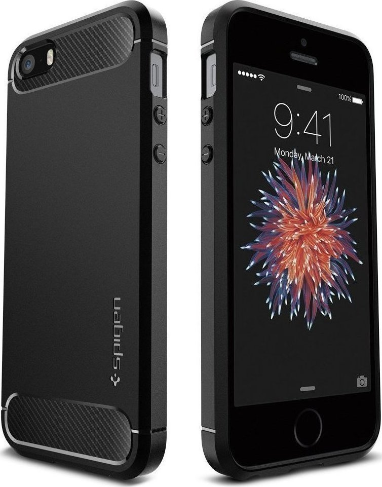 Spigen Rugged Armor Black (iPhone 5 5s SE) 7009365980f