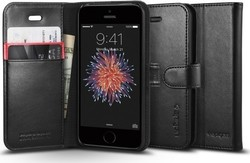 Spigen Wallet S Black (iPhone 5/5s/SE)