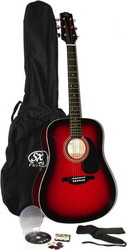 SX Guitars DG150-Red Pack