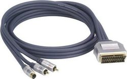 ProfiGold Cable Scart male - 2x RCA male - S-Video male 3m (SVHS/2RCA)