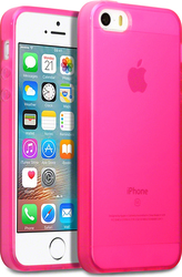 Terrapin Silicone Back Cover Transparent - Pink (iPhone 5/5s/SE)