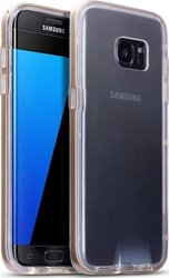 Terrapin Clear TPU Gel with Polycarbonate Bumper Gold (Galaxy S7 Edge)