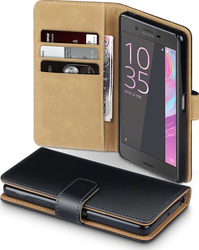 Terrapin Leather Wallet για Sony Xperia X Black/Tan
