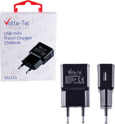 Volte-Tel USB Wall Adapter Μαύρο (VLU15)