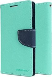 Mercury Fancy Diary Mint / Navy (Galaxy S6)