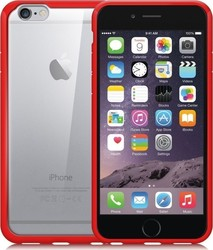 Orzly Fusion Bumper Case for – Red & Clear (iPhone 6/6s)