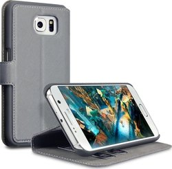 Terrapin PU Leather Wallet Grey (Galaxy S6)