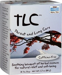 Now Foods TLC Tea Throat & Lung Care 24τμχ