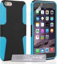 YouSave Accessories Tough Mesh Combo Silicone Case Blue (iPhone 6/6s Plus)