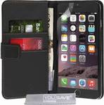 YouSave Accessories Leather-effect Wallet Case Black (iPhone 6/6s Plus)