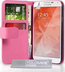 YouSave Accessories Leather-effect Wallet Case Pink (Galaxy S6)