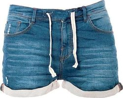 WAXX LADY JOGGJEAN SHORT WASHED BLUE