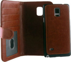 Idol 1991 Book Case Wallet 2in1 Καφέ (Samsung Galaxy Note 4)