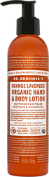 Dr Bronner's Hand and Body Lotions Orange Lavender 237ml