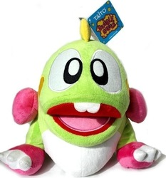 BUBBLE BOBBLE PLUSH TOY WITH SOUND - GREEN