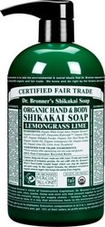 Dr Bronner's Lemongrass Lime Hand & Body Shikakai Soap Organic 709ml