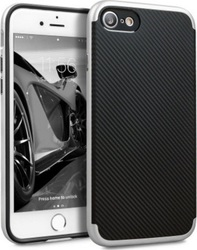 Olixar X-Duo Carbon Fiber Silver (iPhone 8/7)