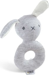 Mamas & Papas Welcome To The World Bunny Rattle - Grey