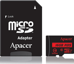 Apacer R85 microSDHC 8GB U1 with Adapter