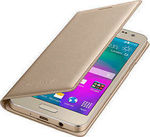 OEM Flip Cover Gold (Galaxy J5 2016)