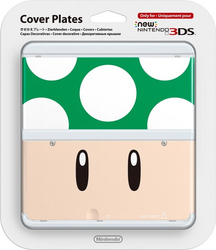 Nintendo Cover Plate 008 Toad Green New 3DS