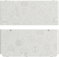 Nintendo Cover Plate 012 Mario World White New 3DS
