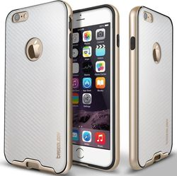Caseology Bumper Frame Carbon Fiber White/Gold (iPhone 6/6s)