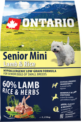 Ontario Senior Mini Lamb & Rice 2.25kg