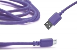 Ancus Braided USB 2.0 to micro USB Cable Μωβ 1m (05023)