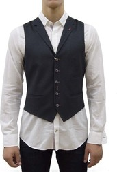 A FISH NAMED WAIST COAT JERSEY BLACK GREY PATTERN