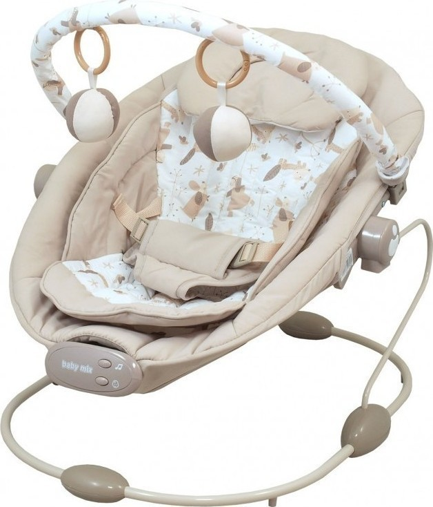 Babymix Infant Rocking Chair With Music Amp Vibration Beige