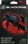 Ardistel Silicone Case Camouflage Black/Red & Thumb Grips Red PS4