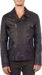 MAYS & ROSE FERRY LEATHER JACKET - FERRY-BLK BLACK