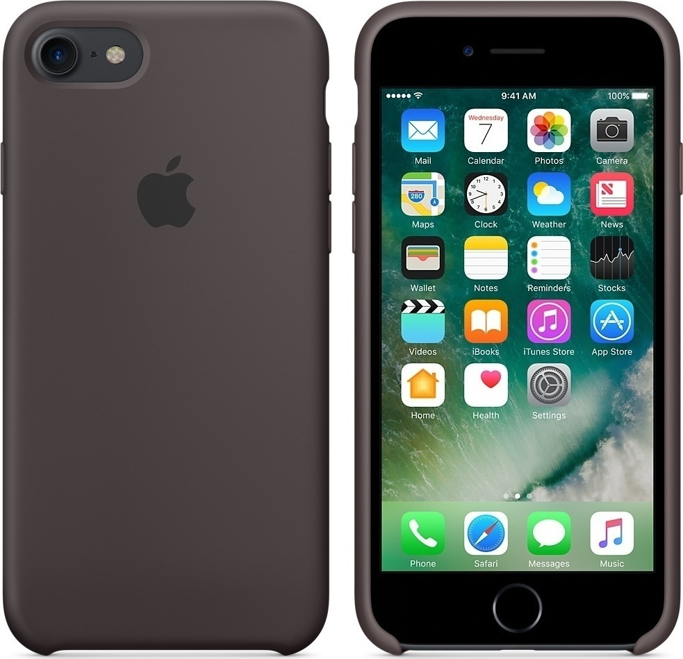 new products 1e62c 4cef9 Apple Silicone Case Cocoa (iPhone 8/7)
