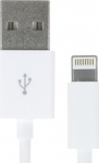 Kit Regular USB to Lightning Cable Λευκό 1m (IP5USBDATWHKT)