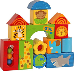 Stephen Joseph Wooden Block Sets Zoo