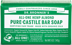 Dr. Bronner's Pure-Castile Bar Soap All in One Hemp Almond 140gr