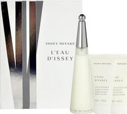 Issey Miyake L'Eau D'Issey Eau de Toilette 50ml & Shower Cream 50ml & Body Lotion 50ml