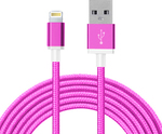 PowerStar Braided USB to Lightning Cable Ροζ 1.5m (EC104488)