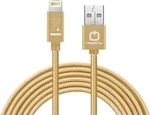 PowerStar Braided USB to Lightning Cable Gold 1m