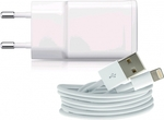 iSelf Apple Lightning Cable & Wall Adapter Λευκό (TCIP52.5AW)