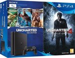 Sony PlayStation 4 Slim 1TB & Uncharted The Nathan Drake Collection & Uncharted 4 A Thief`s End