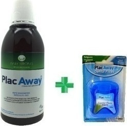 PlacAway Daily Strong 500ml + Dental Floss Ακήρωτο 50m