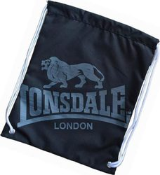 Lonsdale Gym Sack Black / Charcoal 702182