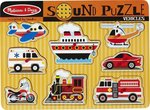 Sound Puzzle - Vehicles 8pcs (0725) Melissa & Doug
