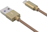 Ldnio Braided USB 2.0 to micro USB Cable Χρυσό 1m (LS08S)