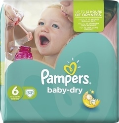 Pampers Baby Dry No 6 (15+ Kg) 33τμχ