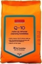 Purederm Q-10 Make-Up Remover Cleansing Towelettes 30τμχ