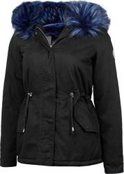 WAXX SQUAD LADIES PARKA JACKET BLACK/BLUE